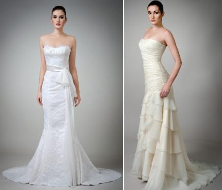 Прозрачные, легкие ткани применяются при отделке в создании рюшей и воланов. Особенно в этом году модно изысканное кружево. Свадебные платья