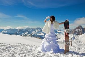 Атрибутика для зимней свадьбы