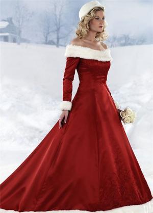 Наряд невесты зимой