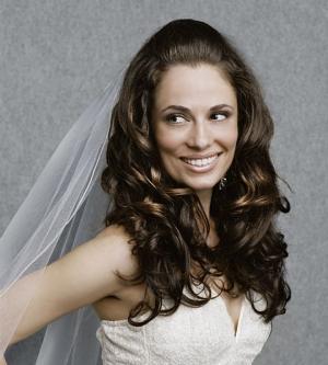 Прически с челкой для невесты