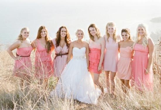 Свадебное платье градиент