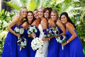 Платья сиреневого цвета для подружек невесты