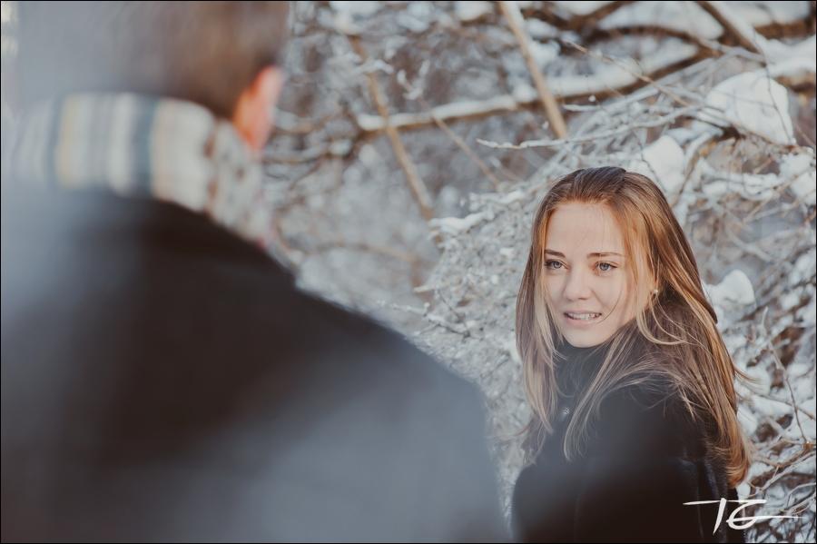 Фотосессия в зимнем лесу
