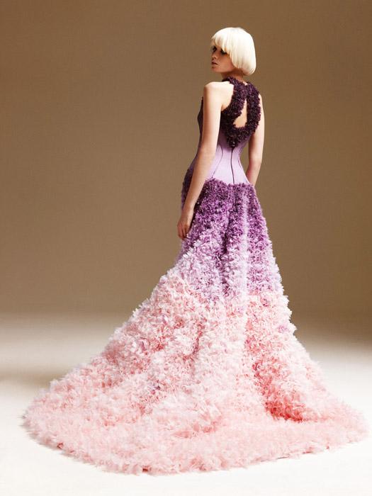 Свадебное платье омбре