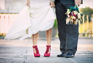 Цветная обувь свадьба