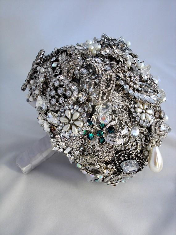 Конфеты на свадьбу в серебре