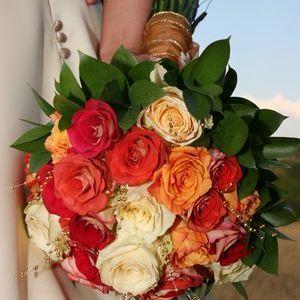 Фото свадебных букетов из герберы